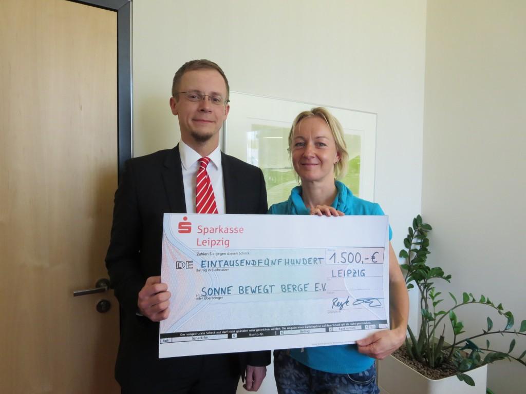 Spende 2015 von der Sparkasse LEIPZIG